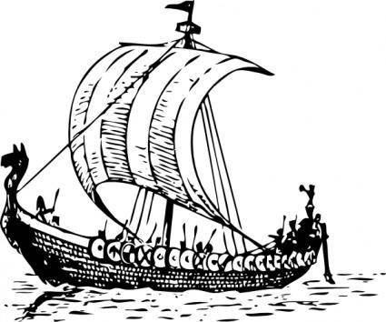 free vector Viking Ship clip art