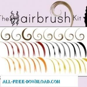 free vector Hairbrush Kit