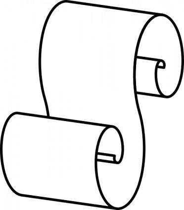 Scroll Outline clip art