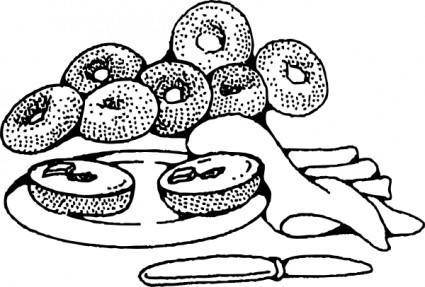 Bakery Breakfast Bagels clip art