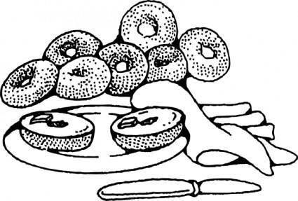free vector Bakery Breakfast Bagels clip art