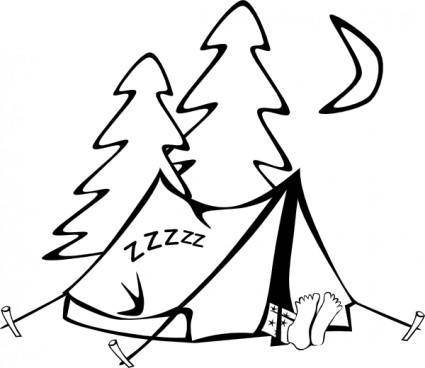 free vector Sleeping In A Tent clip art