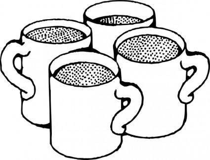 Coffee Mugs clip art