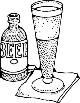 free vector Lage Beer And Glass clip art