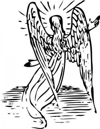 free vector Angel From Behind clip art