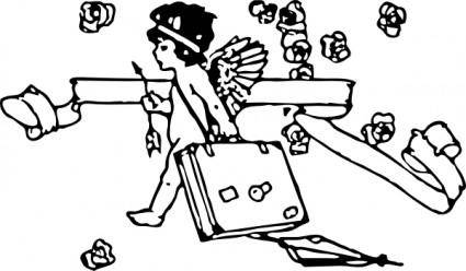 Cupid Traveling clip art