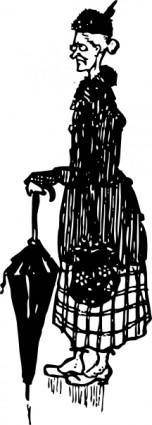 Old German Woman clip art
