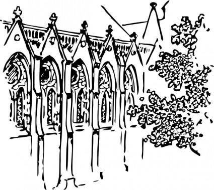 Cathedral Building clip art