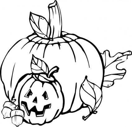 Pumpkins Black And White clip art