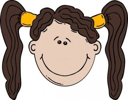 free vector Girl Face Cartoon clip art