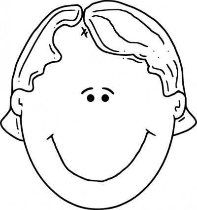 Boyface Outline clip art