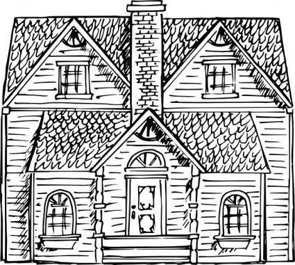 free vector Victorian House clip art