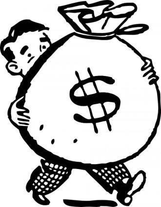 free vector Bag Of Money clip art