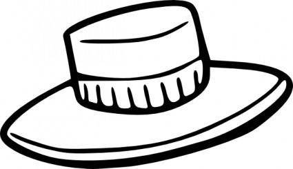 free vector Hat Outline clip art