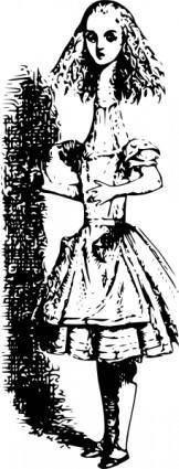 free vector Alice In Wonderland clip art
