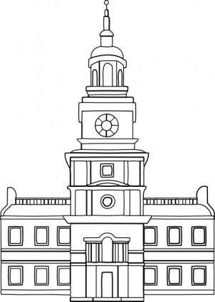 Independence Hall clip art