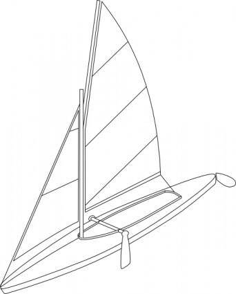 free vector Fold Boat clip art
