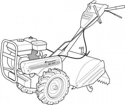 Walking Tractor Power Tiller clip art