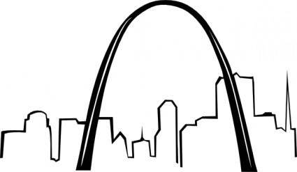 free vector St Louis Gateway Arch clip art