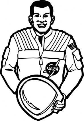 free vector Astronaut clip art