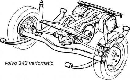 free vector Volvo 343 Variomatic Suspension clip art