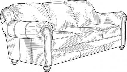 free vector Couch Furniture clip art