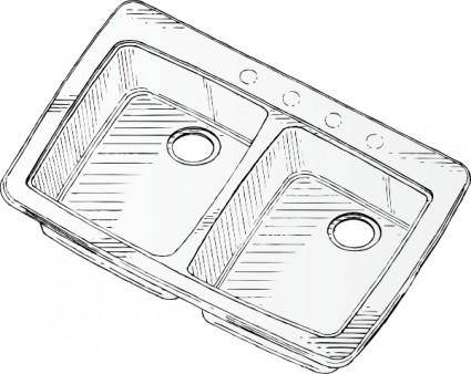 Steel Double Sink clip art