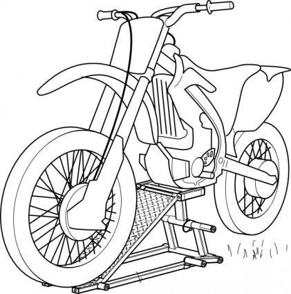 Outline Motorcycle Lift clip art