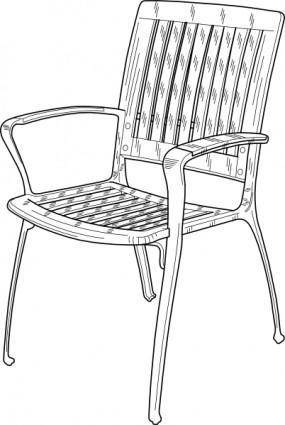 free vector Plastic Chair clip art
