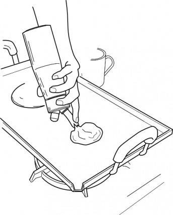 Pancake Dispenser clip art