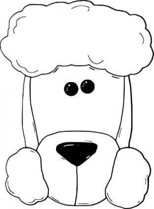 Dogface3_outline clip art