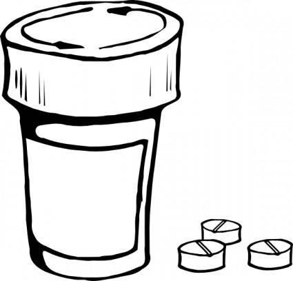 free vector Pills And Bottle clip art