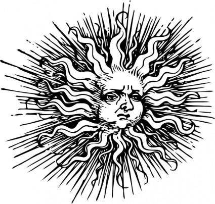Ornate Sun clip art