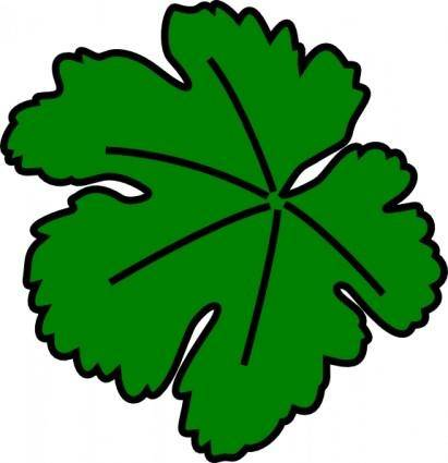 Vine-leaf clip art