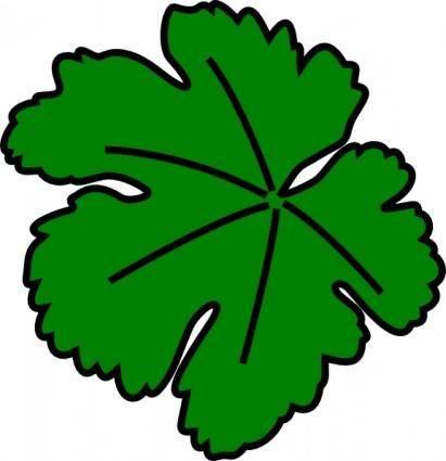 free vector Vine-leaf clip art