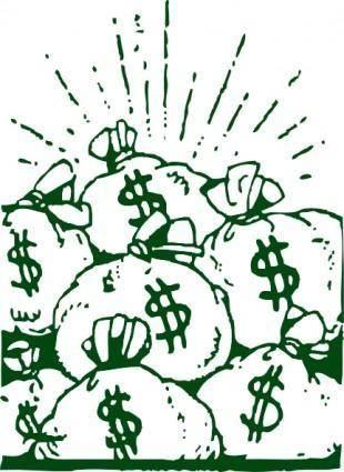 free vector Money Bags clip art