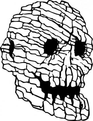Rock Skull clip art