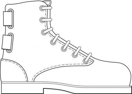 free vector Boot Shoe Clothing clip art