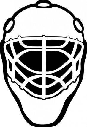Goalie Mask Simple Outline clip art