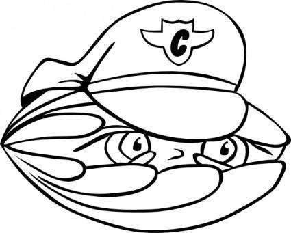 free vector Clam Security Guard clip art