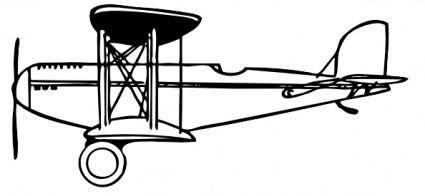 free vector Plane Outline clip art