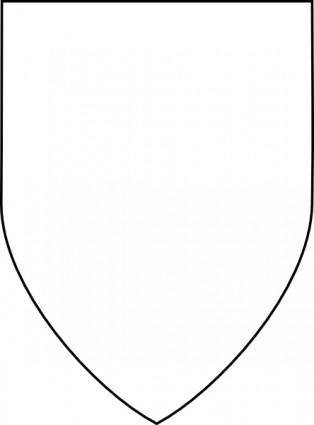 Simple Shield clip art