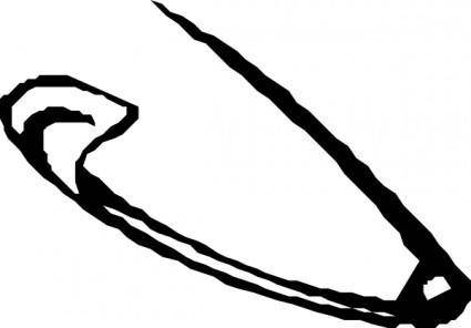 free vector Saftey Pin clip art