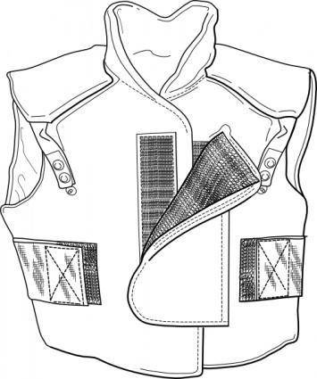 free vector Clothing Vest clip art