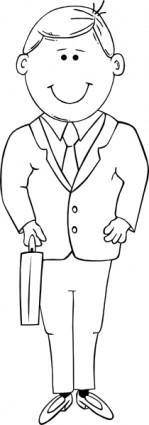 Man In Suit Outline clip art