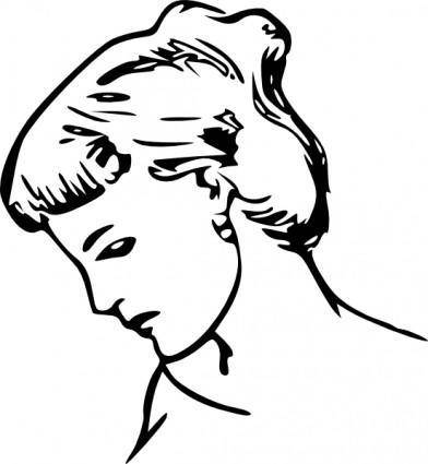 Female Profile Drawing clip art