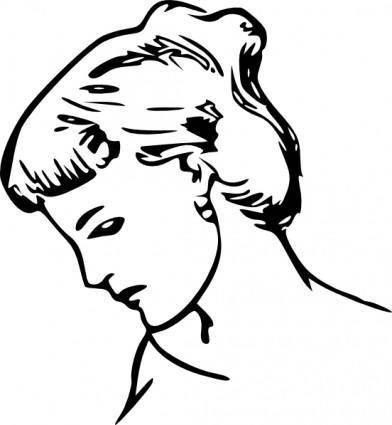 free vector Female Profile Drawing clip art