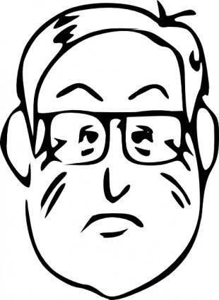 Man Face Head Beard clip art