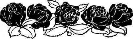 free vector Rose Border clip art