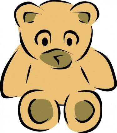 Stylized Teddy Bear clip art